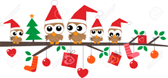Merry  Christmas - happy birds